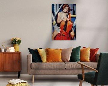 Woman with Cello von Catherine Abel
