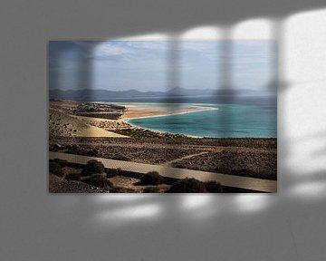 Playa de Sotavento, Fuerteventura, îles Canaries sur Daan Duvillier