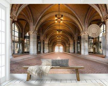 Leeg en verlaten passage onder het Rijksmuseum in Amsterdam van Sjoerd van der Wal