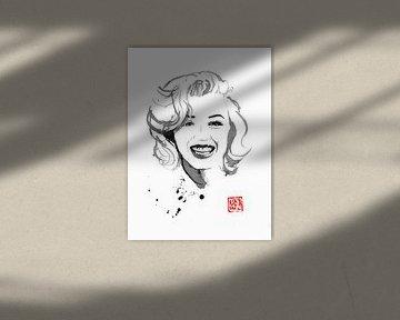 lachende Marilyn van philippe imbert