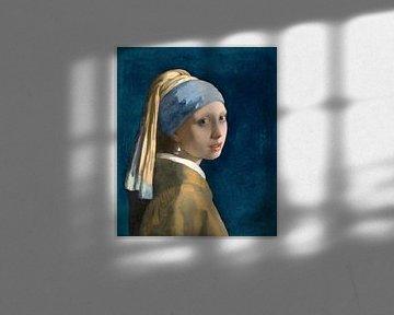 Fille avec la boucle d'oreille en perle - Johannes Vermeer