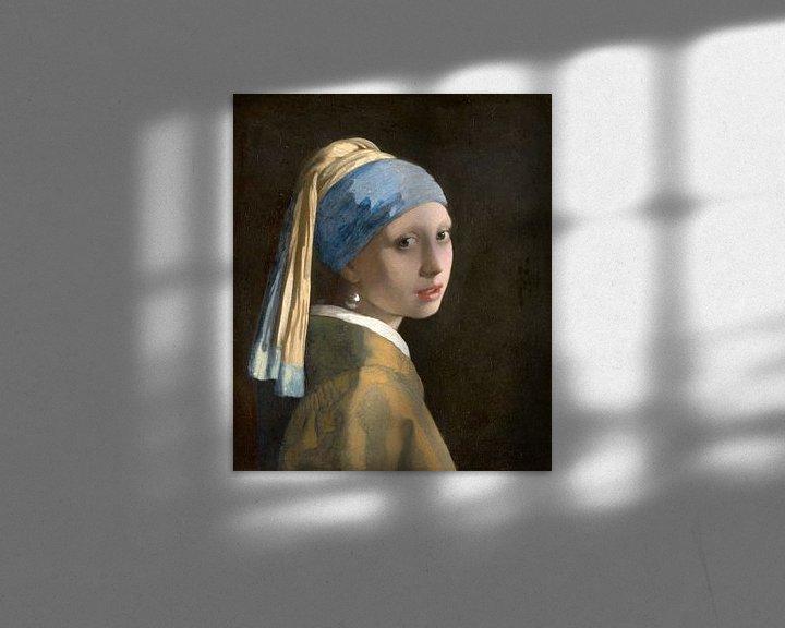 Beispiel: Mädchen mit dem Perlenohrring (spiegelbildlich) - Johannes Vermeer
