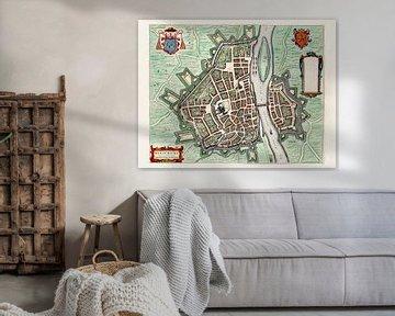 Plattegrond Maastricht - 1649