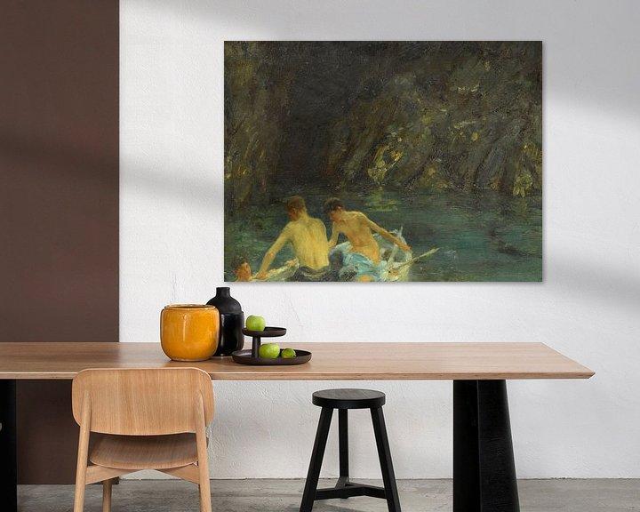 Impression: La caverne, Henry Scott Tuke