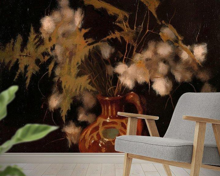 Beispiel fototapete: Flauschige Blumen in einem Krug, Willem Witsen