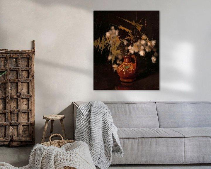 Beispiel: Flauschige Blumen in einem Krug, Willem Witsen