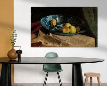 Stilleben mit Äpfeln in einer Delfter blauen Schale, Willem de Zwart