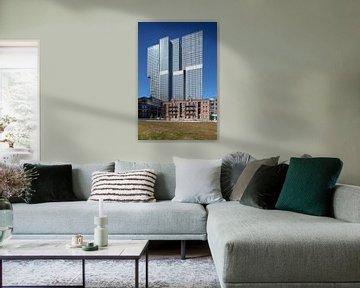 Rotterdamer Turm und Willemsbrug in Rotterdam von Joost Adriaanse