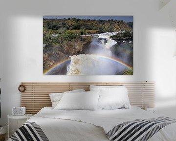 De Murchison Falls in Oeganda van W. Woyke