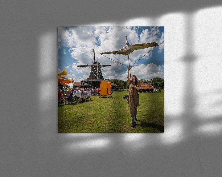 Sfeerimpressie: Vierkaant beeld van Bolwerksmolen bij Deventer tijdens een evenement van VOSbeeld fotografie