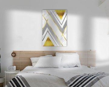 Geometric Art No. 5 gold von Melanie Viola