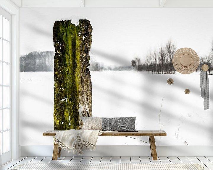Sfeerimpressie behang: Eikenhout van Geert-Jan Timmermans