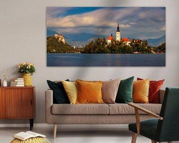 Le lac de Bled en Slovénie sur Adelheid Smitt
