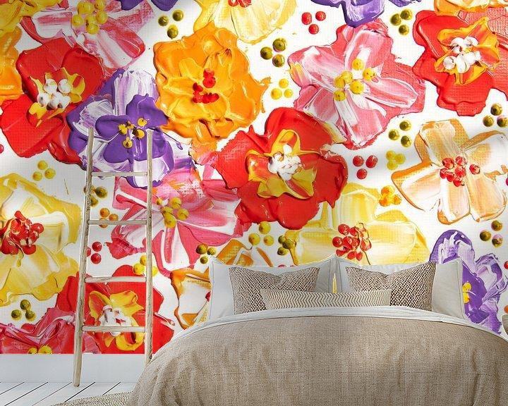 Beispiel fototapete: Schöne Blumen malen von Bianca ter Riet
