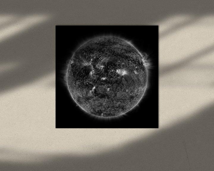 Sfeerimpressie: Mercurius die voorbij de zon trekt in zwartwit van Atelier Liesjes