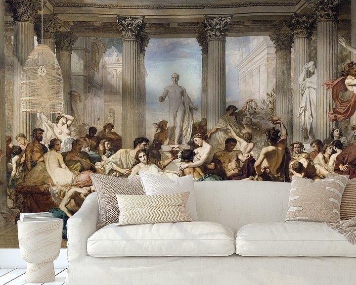 Beispiel fototapete: Römer während der Dekadenz, Thomas Couture