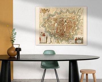 Karte Groningen - 1643