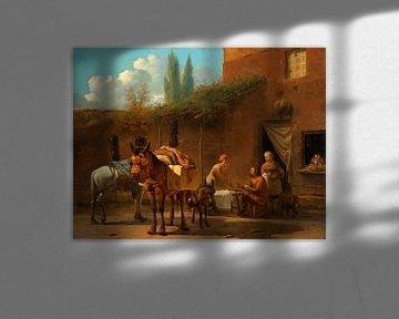 Maultiertreiber in einem Gasthaus, Karel du Jardin