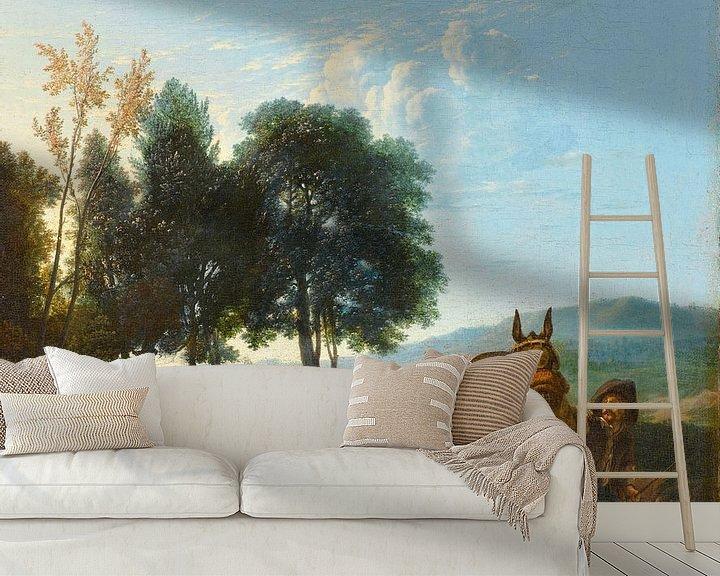 Beispiel fototapete: Landschaft mit Maultiertreiber, Karel du Jardin