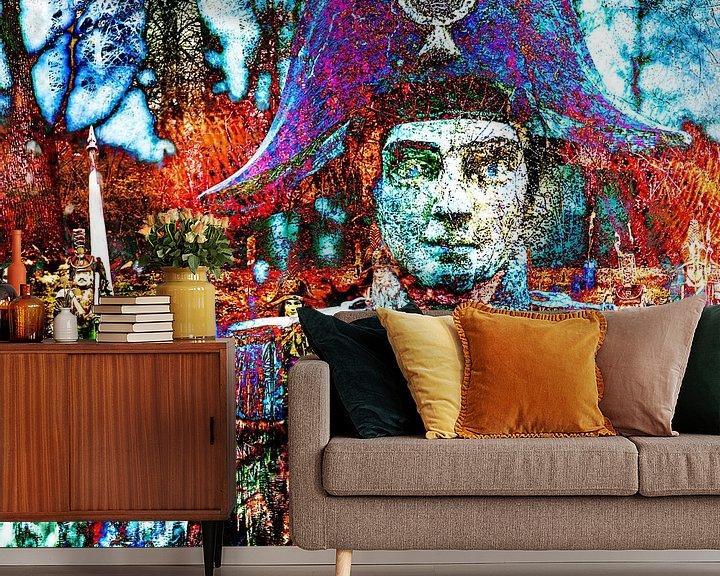Sfeerimpressie behang: De slag bij Waterloo van 2BHAPPY4EVER.com photography & digital art