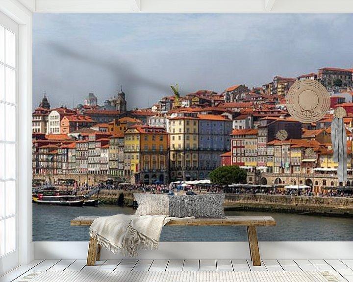 Beispiel fototapete: Das Stadtbild von Porto in Portugal von Atelier Liesjes
