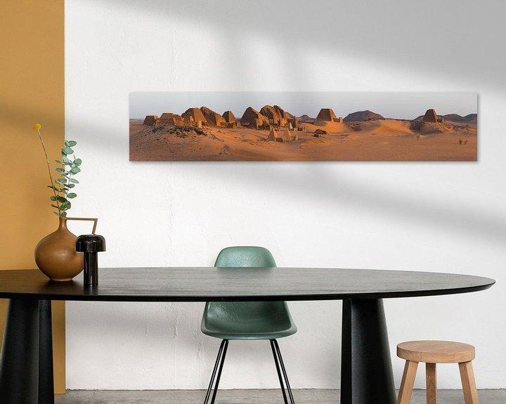 Beispiel: Meroe im Sudan bei Sonnenaufgang von Atelier Liesjes