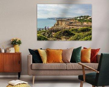 Algar Seco Cliff Walk, Algarve, Portugal. sur Patrick Vercauteren