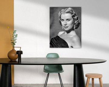 Grace Kelly, zwart-wit van Bridgeman Images