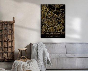 Amsterdam Niederlande City Map von Carina Buchspies