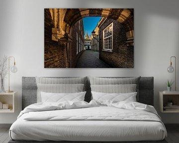 Delft de doorgang naar het Hofje