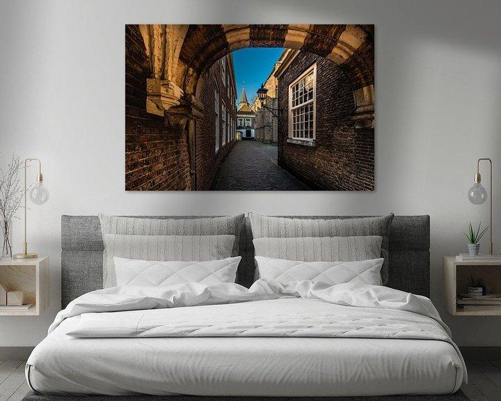 Sfeerimpressie: Delft de doorgang naar het Hofje van Brian Morgan