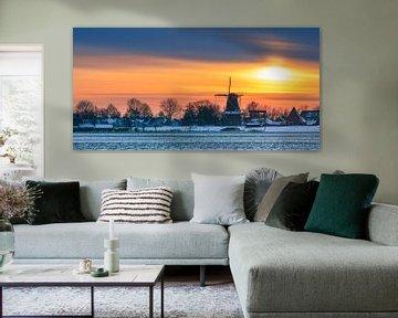 Garnwerd in winter, Groningen, Nederland van Henk Meijer Photography