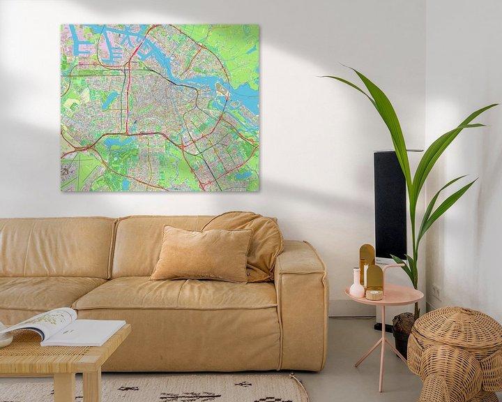 Beispiel: Amsterdam, Karte von Atelier Liesjes
