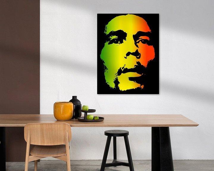 Beispiel: Bob Marley in Reggae-Farben von Atelier Liesjes