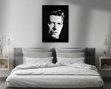 David Bowie in Schwarz-Weiß