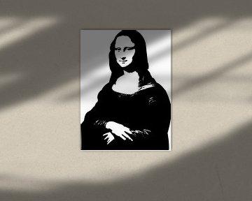 Mona Lisa in schwarz-weiß