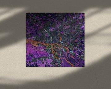 Carte de Freie und Hansestadt Hamburg ou Hamborg im Negativ von Atelier Liesjes