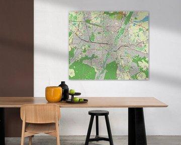 Karte von München von Atelier Liesjes