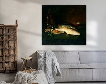 Stilleben, Fische, William Merritt Chase