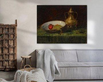 Stilleben (Obst- und Kupfertopf), William Merritt Chase