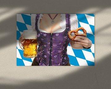 Oktoberfest avec bière et bretzels sur Atelier Liesjes