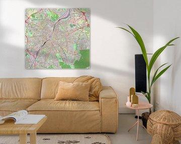 Karte von Brüssel von Atelier Liesjes