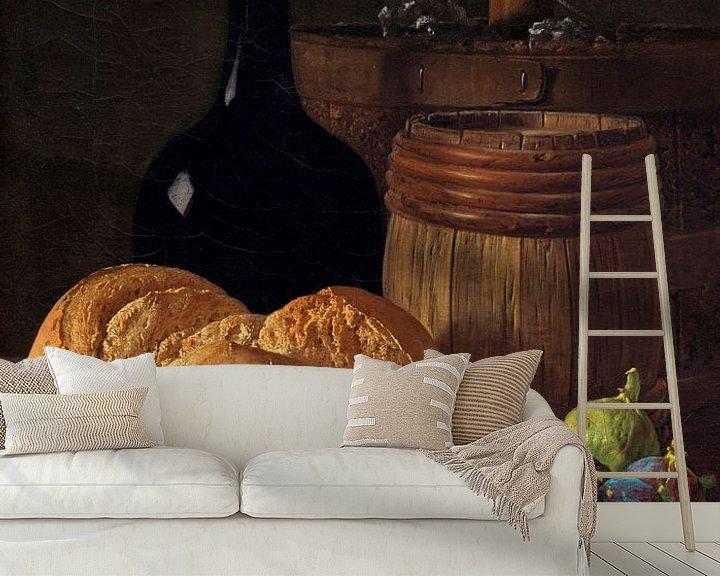 Beispiel fototapete: Stilleben mit Feigen und Brot, Luis Eugenio Meléndez