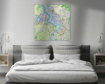 Antwerpen und Hafen, Karte von Atelier Liesjes