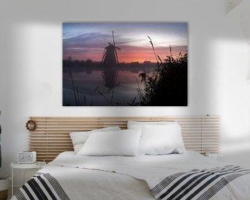 Molens bij zonsopkomst van Andrea Ooms