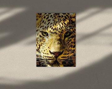 Leopard-Portrait von Lilian Heijmans