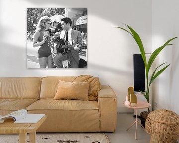 Elvis Presley en Ann-Margret... van Bridgeman Images