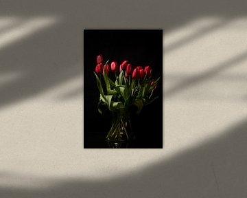 Ein Strauß roter Tulpen von As Janson