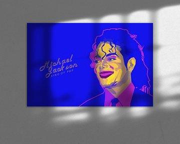 Popart-Bild von Michael Jackson