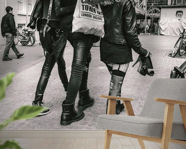 Beispiel fototapete: Party animals in Amsterdam von Jasper van der Meij